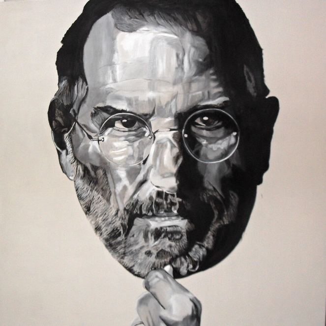 Superpowers III. Super-guru Steve Jobs. Huile sur toile / oil on canvas 200 cm x 200 cm