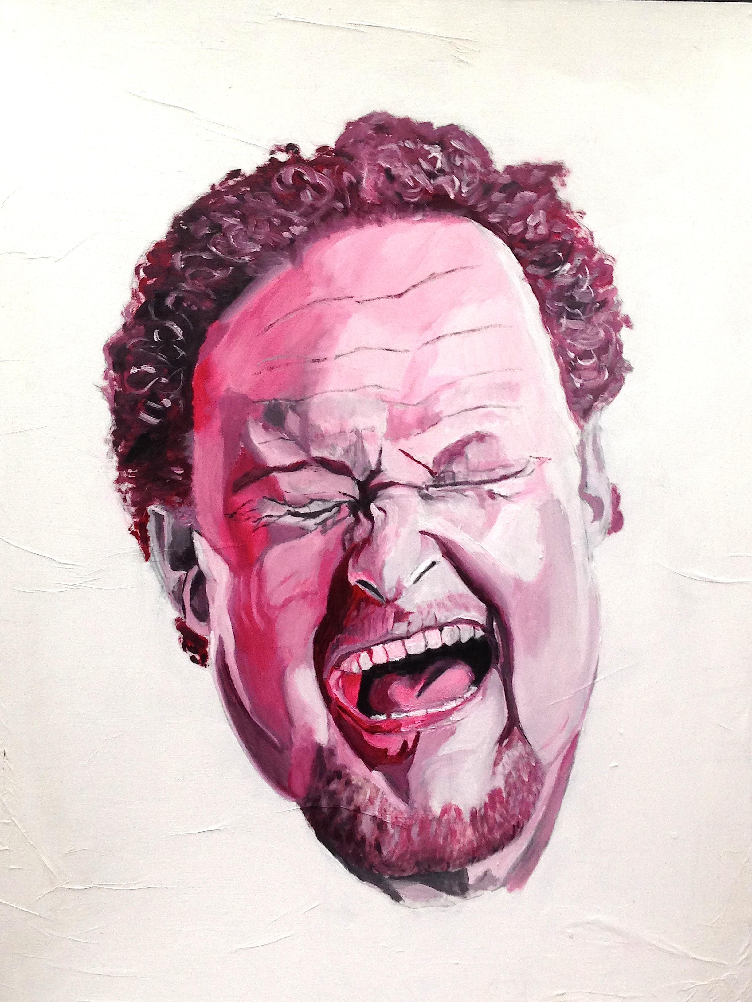 Premier portrait de Henry. Traitement rose. 2014.