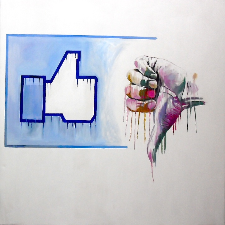Superpowers I. Like it ? Huile sur toile / oil on canvas 200 cm x 200 cm