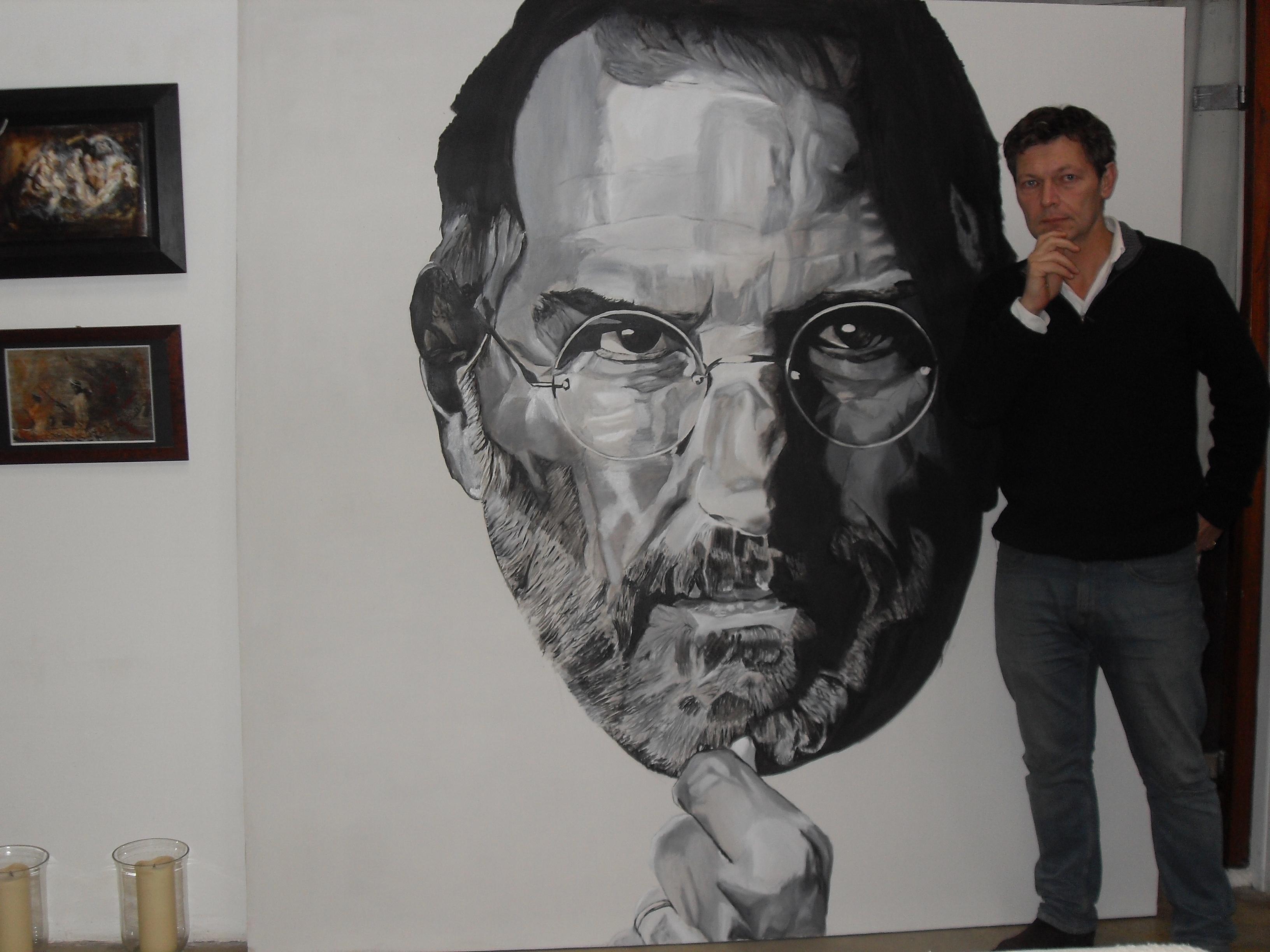 Super-guru Steve Jobs in the studio