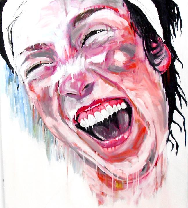Portrait d'Anna riant. Huile sur toile