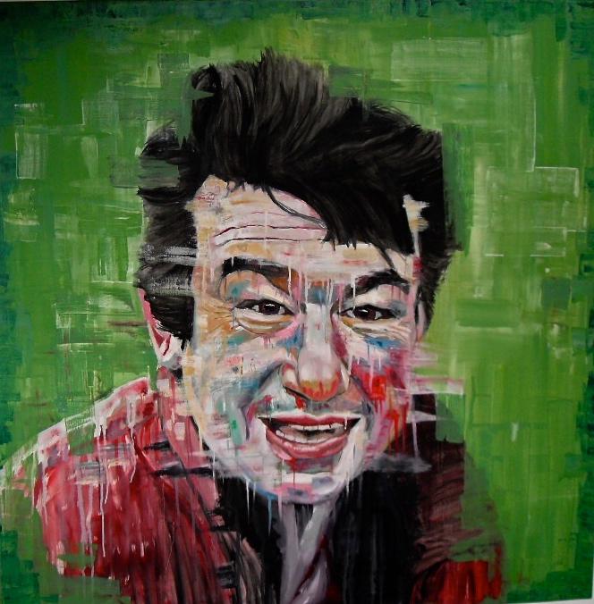 Portrait d'Antoine de C. par Stanmac (2015) Huile sur toile / Oil on canvas. 100 x 100 cm