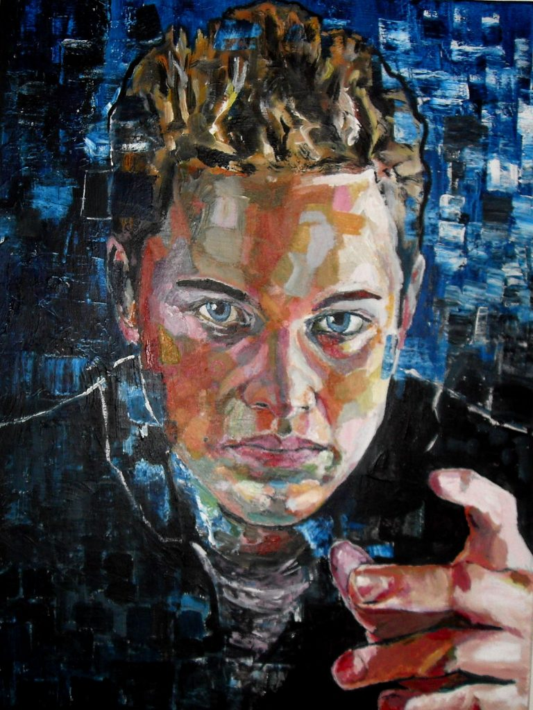 Second portrait de Dorian en 2016, par Stanmac. Acrylique sur toile / Acrylic on canvas. 80 cm x 60 cm (Collection particulière)