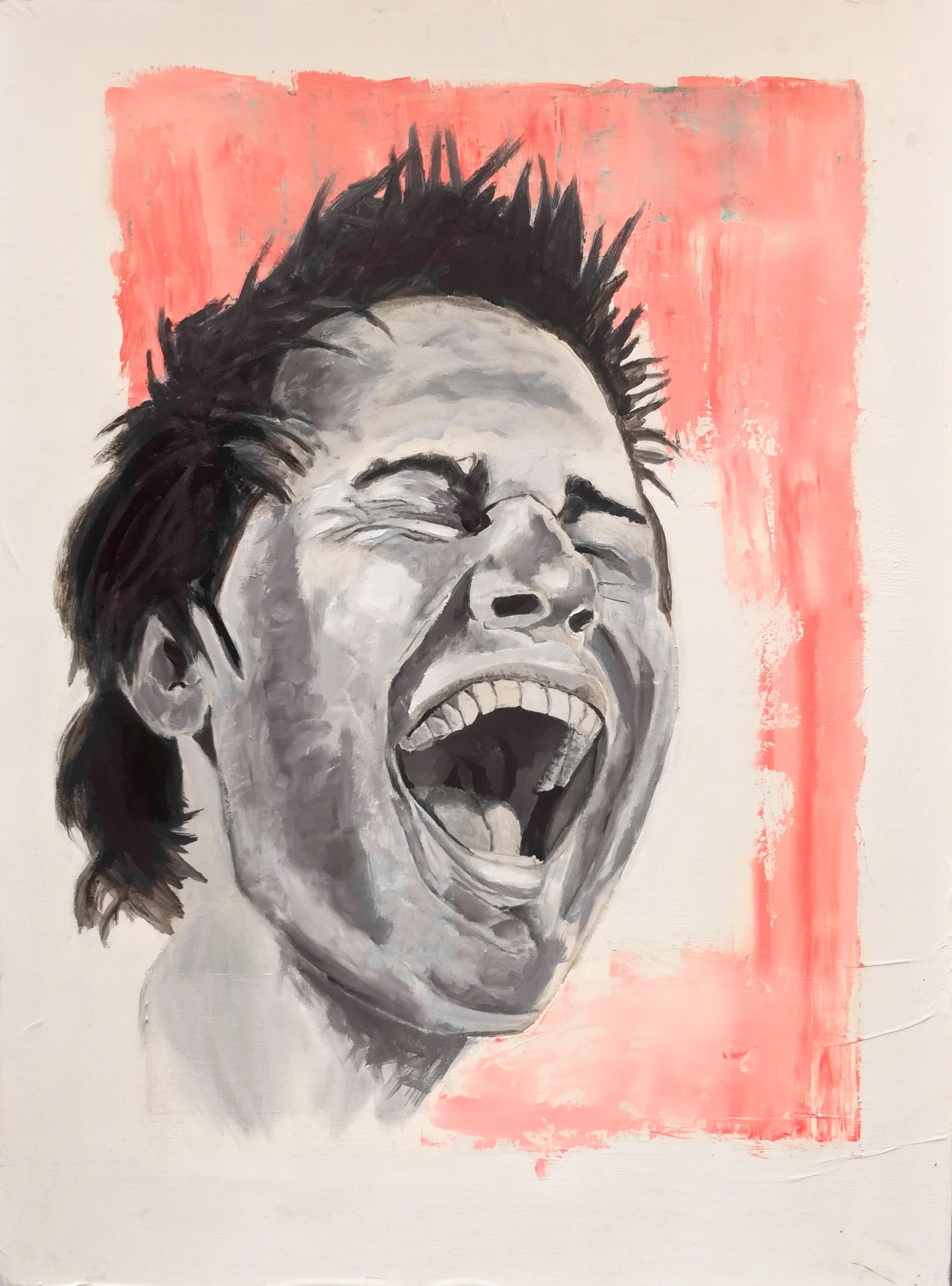 Andy I. Reprise à l'acrylique du premier portrait d'Andy, par Stanmac. 2014-2018