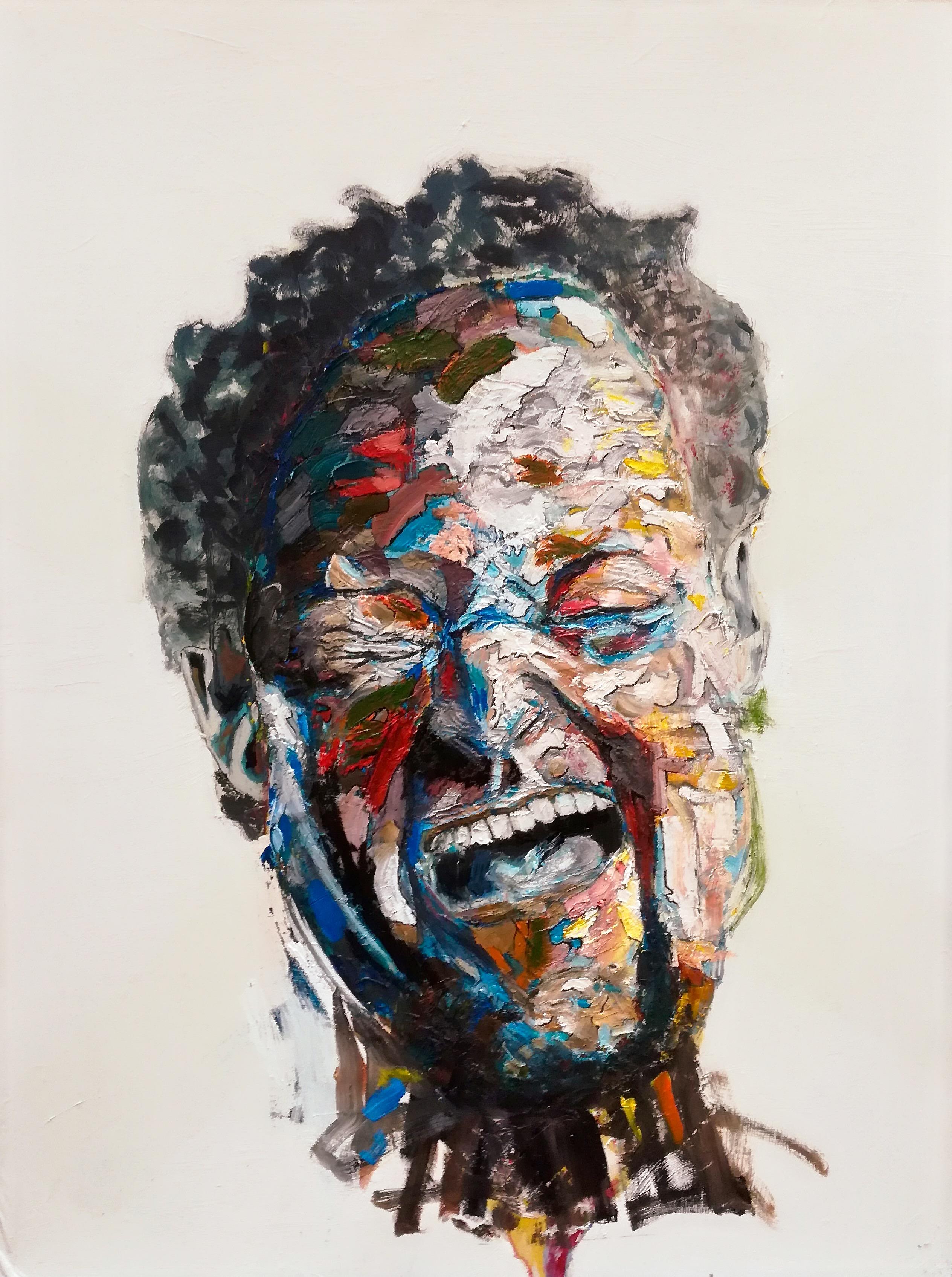 Portrait peint de Henry. Troisième de la série. Expressionniste, taches de peinture, épaisseur. Par Stanmac 2014-2018