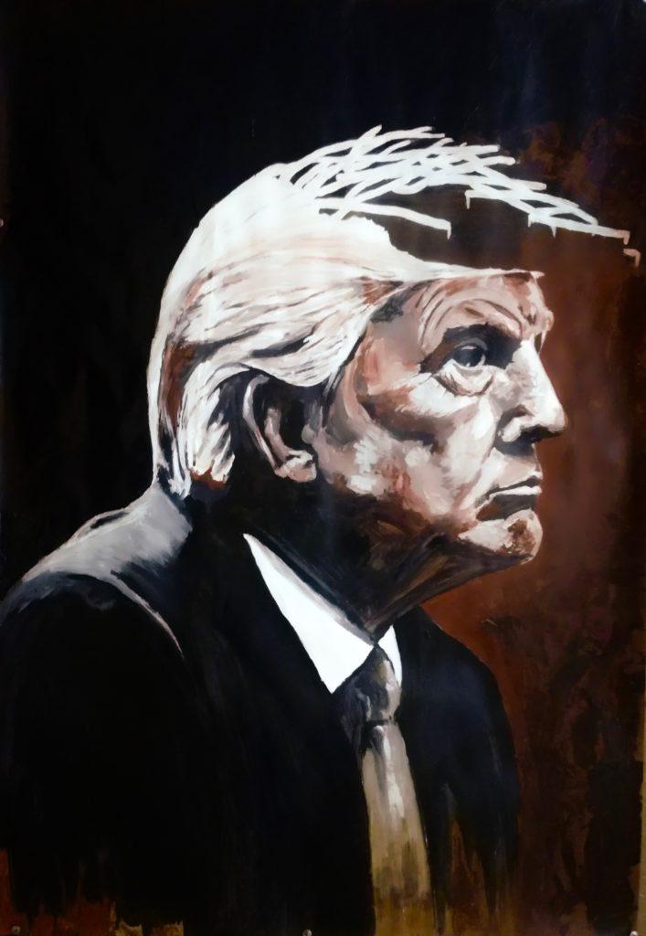 Portrait de Donald Trump.