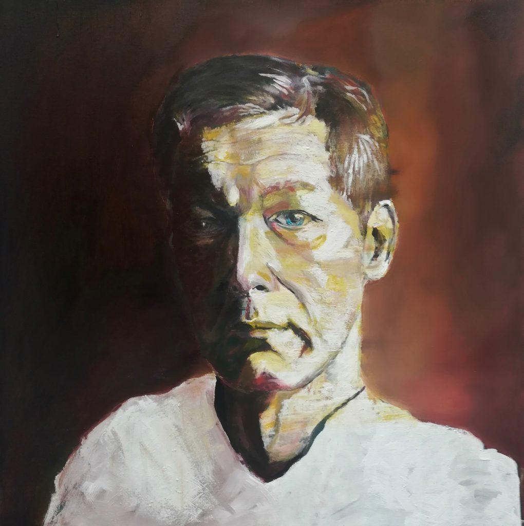 Autoportrait en jaune.